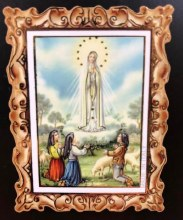 OUR LADY OF FATIMA WOOD MAGNET