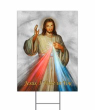 DIVINE MERCY YARD SIGN