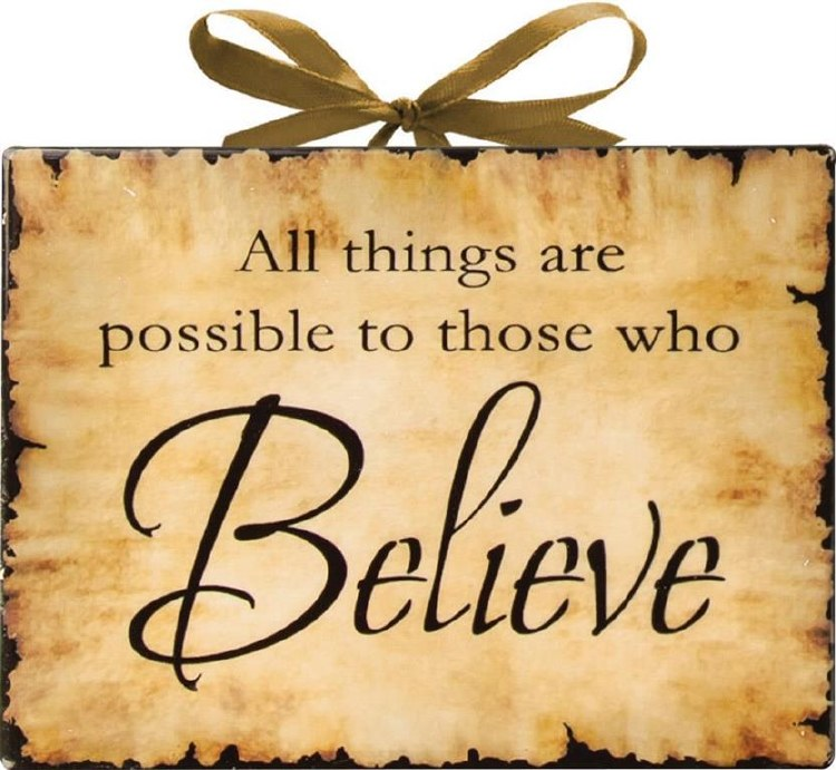 BELIEVE CERAMIC PLAQUE
