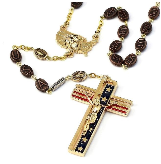 THE USA ROSARY WITH 50 STATES BEADS