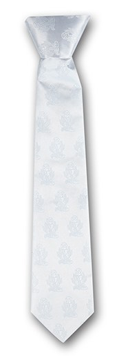 SATIN WHITE FIRST COMMUNION TIE
