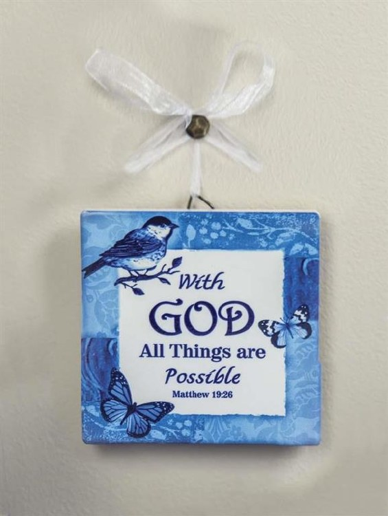 WITH GOD ALL THINGS ARE POSSIBLE MINI PLAQUE