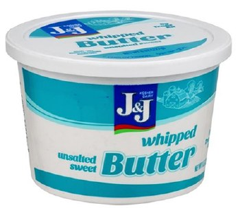 J & J Whipped Butter 8 oz