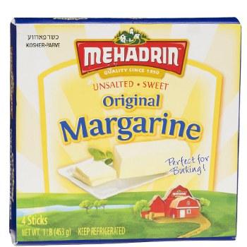 Mehadrin Mrgarine unsalted   1 lb.