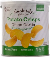 Absolutely Potato Crisps Mini Onion Garlic   1.41 oz