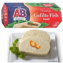 A & B Gefilte Fish Sweet 20 oz