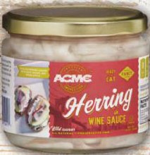 Acme Herring In Wine Sauce 12 oz
