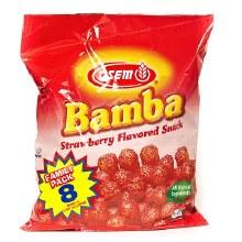 Bamba Strwbry  Fam. Pack 8 bags/pk