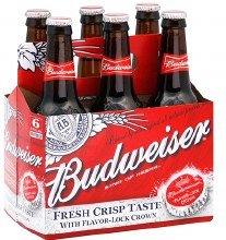 Budweiser 12 Oz Bottle 6 pack