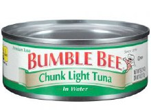 Bumblebee Chunk In Water 5 oz