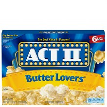 Act Ii Popcorn Butter Lovers 3 x 2.75 oz