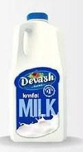 Devash Milk 1/2 Gal. Reg