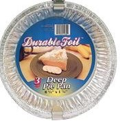 Durable Foil Deep Pie 3pk