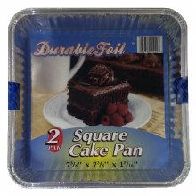 Durable Foil Square Cake 2 pack