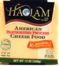 Haolam American Cheese 16 count   Yellow