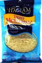 Haolam Mozzarella Shredded R/f 8 oz   Reduced Fat