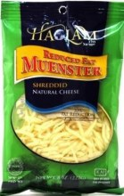 Haolam  Muenster Shredded 8 oz   Reduced Fat