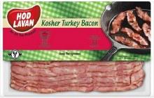 Hod Lavan Turkey Bacon 8 oz