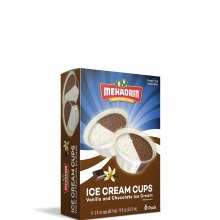 Mehadrin Ice Cream Cups Vanilla Chocolate 6 pack