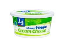 J & J Cream Cheese Whipped w/ Vegetables 8 oz