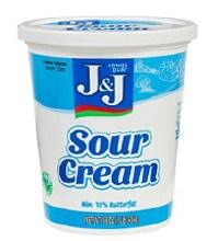 J & J Sour Cream 16 oz