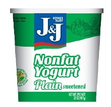 J & J Yogurt Plain 32 oz