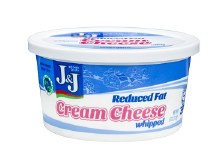 J & J Cream Cheese Whipped Low Fat  8 oz