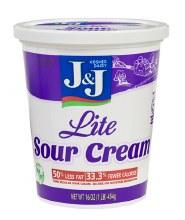 J & J Lite Sour Cream 16 oz