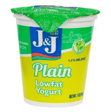 J & J Yogurt Plain 7 oz