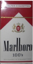 Marlboro 100's  Red Box