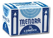 Menora Long Candles 36 Count