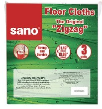 Sano Floor Cloth Zig Zag 3 pack