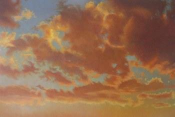 "David Moss, Cloud Series #10, 49"" x 72"""