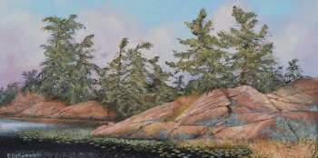 Lynne Schumacher, Shoreline on the Bay