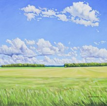 Greg Sherwood, Clouds Over Hay Field, Sky Series