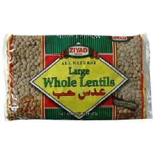 Ziyad Large Whole Lentils