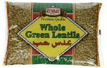 Ziyad Large Green Whole Lentil