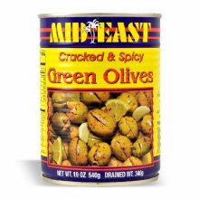 M.E. Green Olives W/hot