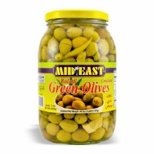 M.E. Green Cracked Olives
