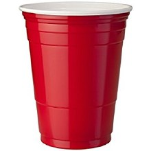 180 Cup Red Plastic
