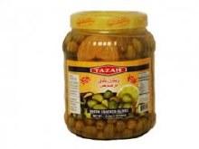 Tazah Green Cracked Olives
