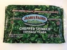 James Farm Chopped Spinach