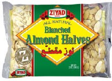 Ziyad Almond Halves Blanched