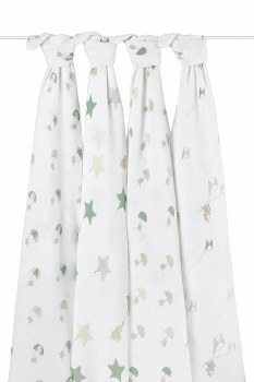 aden + anais Swaddle 4-Pack - Super Star Scout
