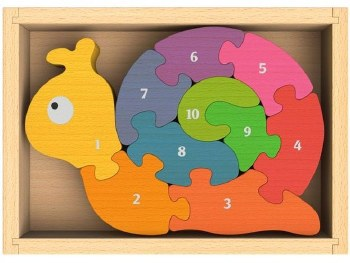 Begin Again Number Snail Puzzle