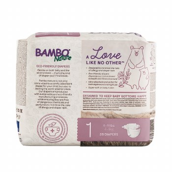 Bamboo Nature Diaper Baby 1
