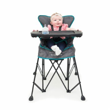 Baby Delight Uplift Deluxe Portable High Chair- Slate Grey