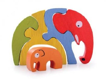Begin Again Elephant Family Puzzle