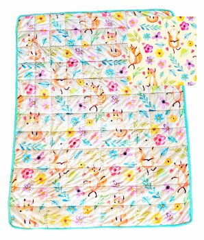 Birdy Boutique Weighted Blanket Fox Floral