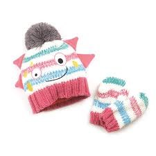 Blade & Rose Bobble Hat and Mitten Set Messy Monster